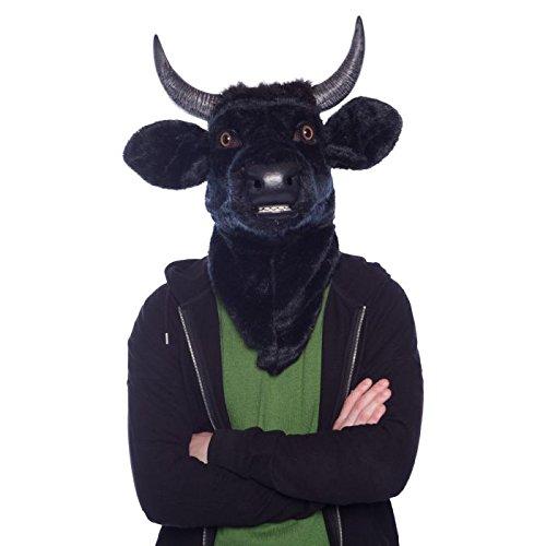 Moving Mouth Mask 21762Cabeza de Toro Toro Vaca Deluxe Animales Máscara,...