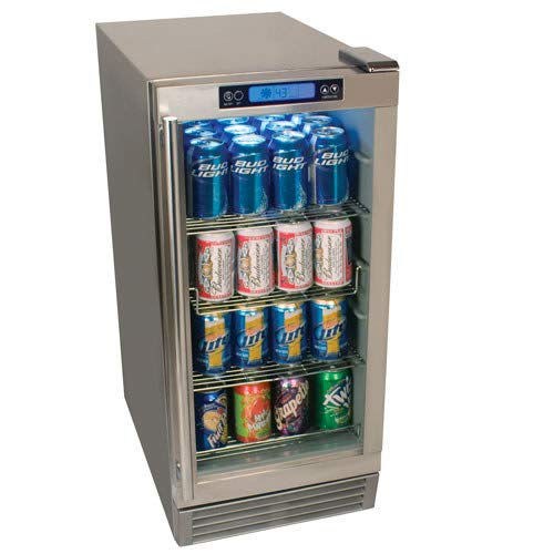 Outdoor Beverage Refrigerator 84 Can EdgeStar- Stainless Steel ...