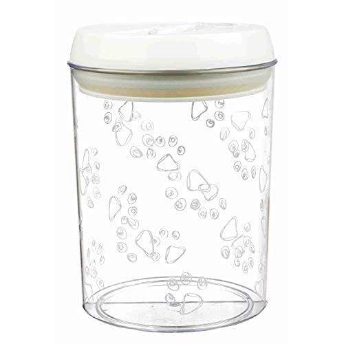 Trixie 24664 Futter- und Snackdose, Kunststoff, 1,5 l/ø 12 cm, transparent/weiß