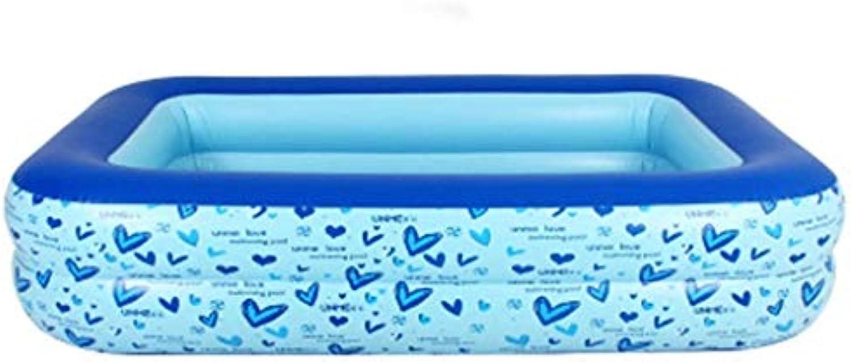 ZH1 Planschbecken Aufblasbare Badewanne, Faltbadewanne für Familien, Swimmingpool für Erwachsene, Blau (gre   295x170x50cm)