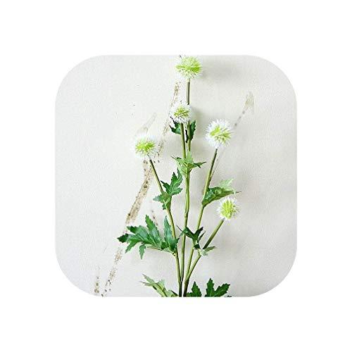5 Cabezas de Diente de león Ramas de Flores Artificiales DIY Boda Fiesta decoración pompón de plástico Flores Falsas Flores Corona de Flores, B, Size