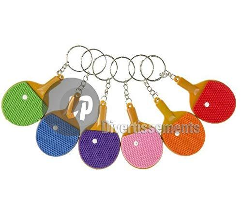 Lg Import - Lote de 12 llaveros de raqueta de pingpong Mix 6,5 cm