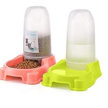 Toruiwa. Distributeur Croquettes pour Chat Croquette Chaton Boite à Croquettes Gamelle Chats Chiens Accessoire (Vert)