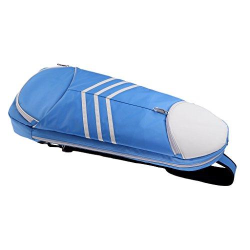 Bolso De Raqueta De Bádminton Deportivo Paquete De Múltiples Usos Al Aire Libre Solo Hombro - Azul