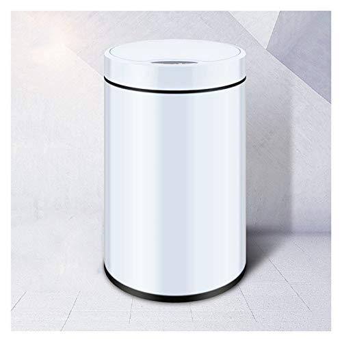 Bote de Basura La basura de inducción puede tonterías, la basura con tonelada, la basura inteligente de la basura del hogar, la papelera del metal con la tapa para el dormitorio, la sala de estar y el