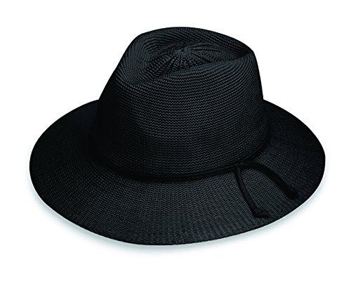 Women's Victoria Fedora Sun Hat – UPF 50+, Adjustable, Packable, Black