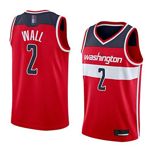 LYY Jerseys De Hombre, NBA Washington Wizards # 2 John Wall - Uniformes De Baloncesto Clásicos Camisetas Deportivas Sin Mangas Y Camisetas Cómodas,Rojo,XL(180~185CM)