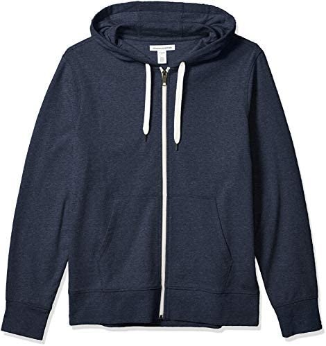Amazon Essentials Men s Lightweight French Terry Full Zip Hooded Sweatshirt Navy Medium product image