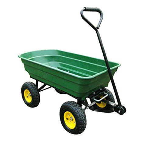 HOMCOM Chariot de Jardin a Main Garden cart Truck cuve basculante Max. 200 Kg