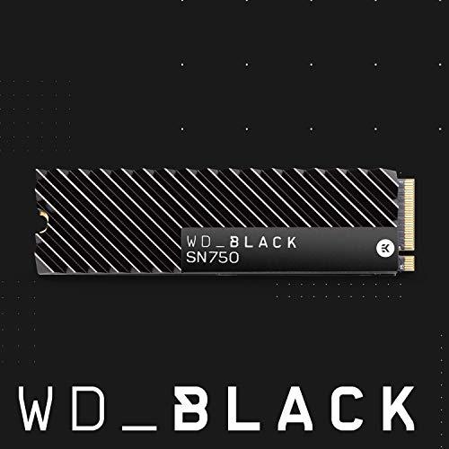 WD Black SN750 - SSD Interno NVMe con disipador térmico para Gaming de Alto Rendimiento, 500GB