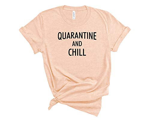 nobrand Quarantine and Chill Shirt Social Distancing Social Distance quarantined T Shirt Unisex SD22 3XL