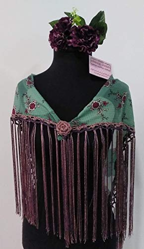 Mantoncillo flamenca morado ✅
