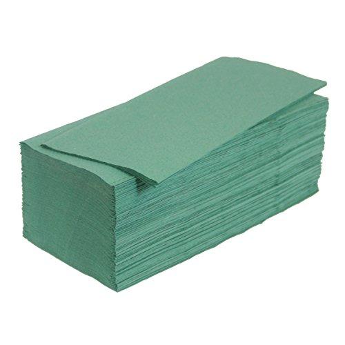 5000 Papierhandtücher 25x23 cm ZZ-Falz grün 1-lg. Papiertücher