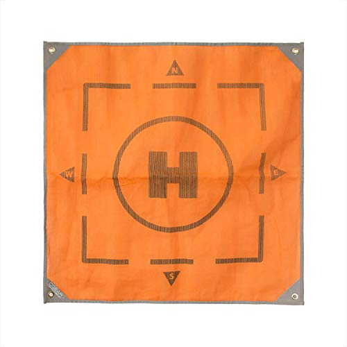 CGEAR Sand-Free 3' x 3' Drone Mat - Patented Technology, Weatherproof Material, Military-Grade Construction – The Ultimate Portable Landingpad Pro Accessory – Includes Ground Stakes and Carry Bag