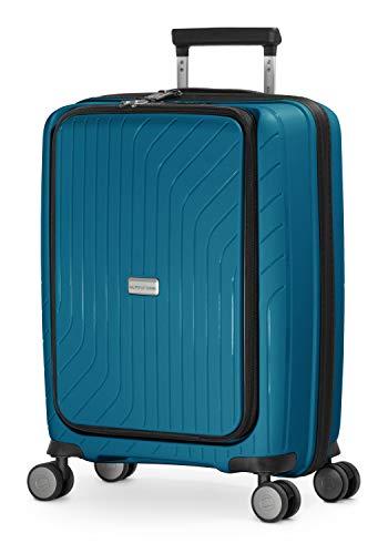HAUPTSTADTKOFFER- TXL - lichte handbagage met laptoptas, trolley met harde schaal van stevig polypropyleen, business trolley 55 cm, 40 L, TSA-slot, donkerblauw