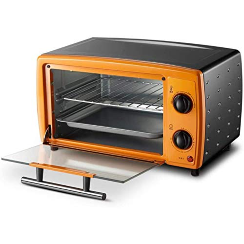 LUNAH 12L Mini Toaster Oven Best Convection Includes Bake Pan Broil Rack Countertop Oven Polished Stainless Toast Home Kitchen Mini Ovens