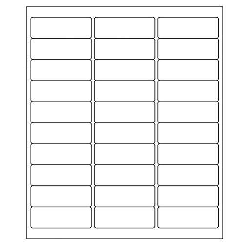 9527 Product 30 up 1 x 2-5/8 Sticker Labels Shipping Address Labels 200 Sheets SKU Labels for Laser/Ink Jet Printer,Total 6000 Labels