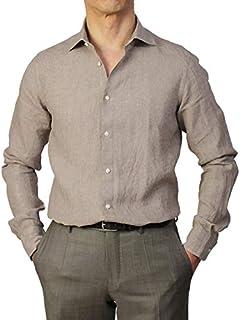 ギローバー GUY ROVER シャツ セミワイドカラー リネン 製品洗い S2670L501300 [並行輸入品]
