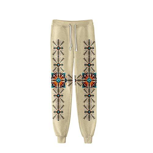 Linnhorr Pantaloni Stampati Indiani Indiani 3D Indiani Uomini Pantaloni di Modo Unisex 10 4XL