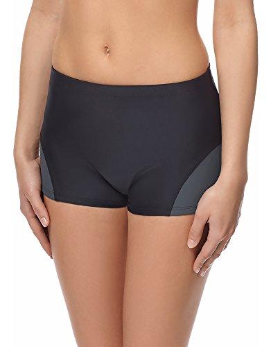 Merry Style Bas de Maillot de Bain Short Sport Vêtement Femme S1LL (Noir/Titanium (9154), FR 42 = DE 42)