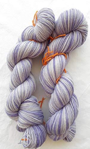 Lavendelei handgefärbte Ringelwolle - Sockenwolle 100 g ca 420 m 75% Wolle/25% Polyamid -