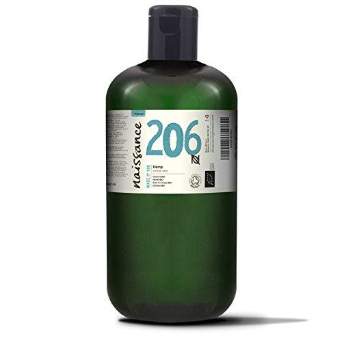 Naissance Hanfsamenöl BIO (Nr. 206) 1 Liter (1000ml) – nativ, kaltgepresst, 100{51e7dae80a5b2831ee5ea927fca252db1a59312fb5852e016d3e55b1e847fe99} rein – vegan und tierversuchsfrei – reich an Omega-3 und Omega-6