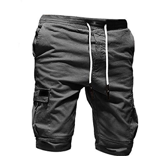 Mannen Shorts Pure Kleur Bandage Casual Losse Sweatpants Trekkoord Korte broek Mannen Sport Kleding Comfortabele Shorts