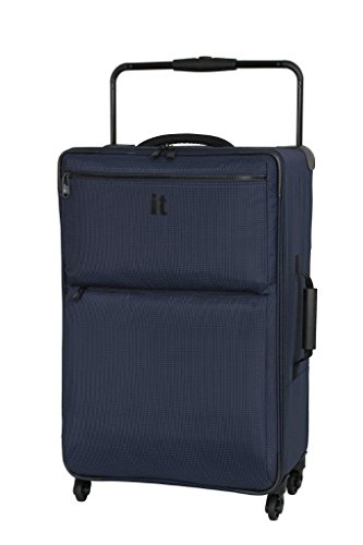 IT Luggage World's Lightest 74cm Four Wheel Spinner Suitcase Navy Two Tone