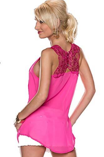 Y & G dames blouse chiffon bovenstuk tuniek met strass glitter