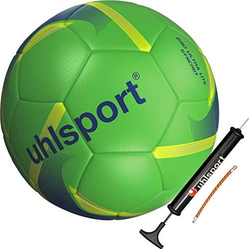 uhlsport Kinder Fußball Jugend Ultra Lite grün 290 g Größe 4 mit Ballpumpe
