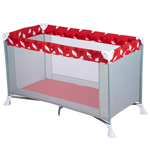 Safety 1st Soft Dreams Lit Parapluie Bébé De Voyage, Pratique et Compact Red Campus