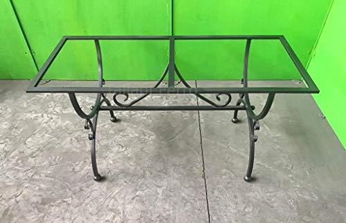Taliani Ferro Mesa de hierro forjado completa (sin estantes) con pintura epoxi y poliuretano. Medidas 60 x 140 x 73 cm aprox. Alta calidad. Fabricado en Italia.