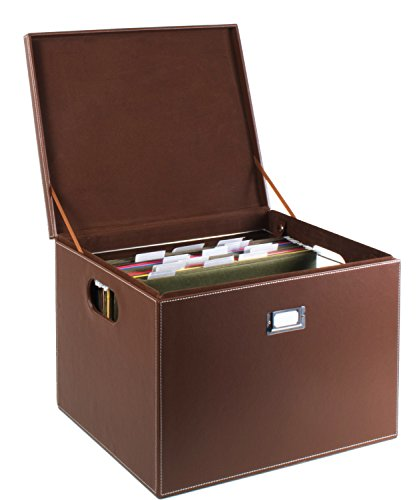 G.U.S. Decorative Office File and Portable Storage Box For Hanging Folders Letter Or Legal, Brown (Best Of Udit Narayan Zip File)