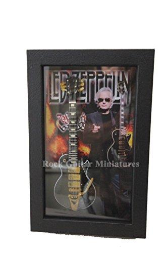 RGM8901 Jimmy Page Colección de guitarra en miniatura en marco Shadowbox