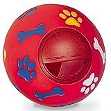 BDUK cane palla giocattolo in gomma resistente IQ interattiva erogazione di cibo spuntino palla per animali domestici giocattolo per la pulizia dei denti palla per l'allenamento e il trattamento