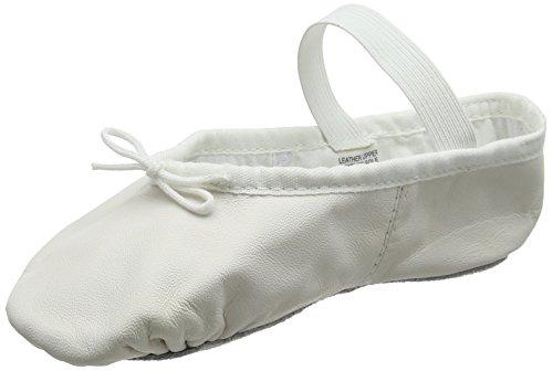 (S0209) Bloch Arise Leder Ballettschuh Weiss EU 28 C UK 10 C