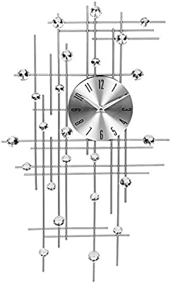 Simple living room bedroom quiet rhinestones stylish wrought iron wall clock clock quartz watches