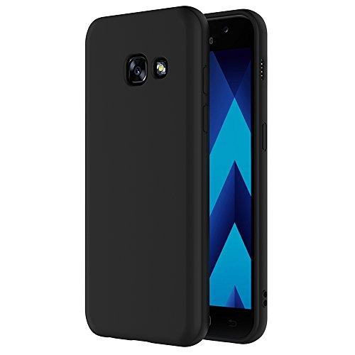 AICEK Samsung Galaxy A5 2017 Hülle, Schwarz Silikon Schutzhülle für Galaxy A5 2017 Hülle TPU Bumper Samsung Galaxy A5 2017 Handyhülle (5.2 Zoll)