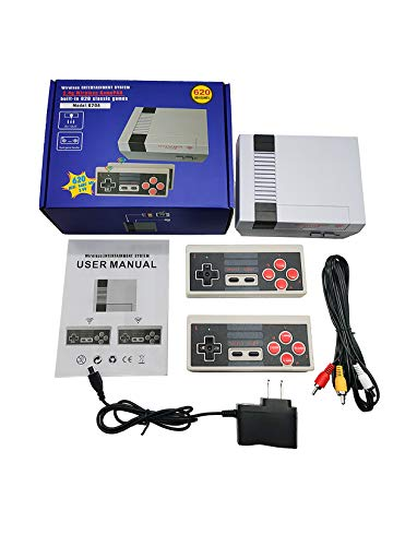 Retro Wireless Video Game Console Classic Handheld Mini PC Game Player Built in 620 Games Dual Controller AV TV Game Machine for KidsChildrenAdult