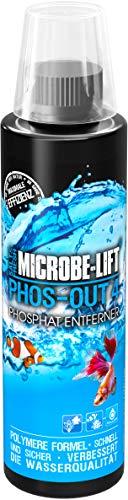 MICROBE-LIFT Phos-Out 4 – flüssiger Phosphat-Entferner für jedes Meerwasser- & Süßwasseraquarium, schnell & sicher, 473ml