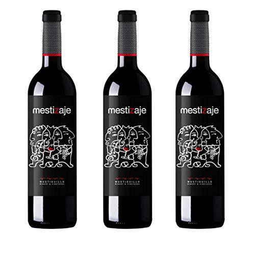 Mestizaje Vino tinto eco bio - 3 botellas x 750ml - total: 2250 ml