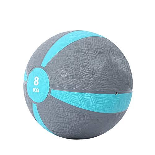 Balones medicinales Pelota de entrenamiento para la aptitud adulta, gimnasio Core Fuerza de la cintura de la cintura de la cintura de la bola de caucho sólido, adecuado para el entrenamiento de equili
