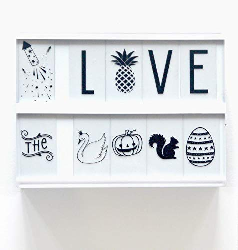 A Little Lovely Company Lightbox Lot de Lettres Noir