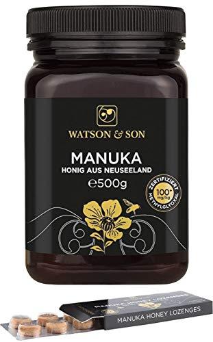 Watson & Son Manuka Honig MGO 100+ 500g + Manuka Lutschbonbons 20g MGO 400+
