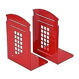 Sujetalibros Tapón de Libro Red Heavy Metal Organizador de Libros Cabina de teléfono Estantería Decoración Decorativa Dormitorio Biblioteca Oficina Material Escolar