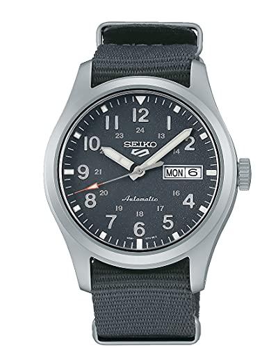 Seiko 5 Sports Field Collection Reloj automático de hombre con esfera gris y correa de nailon SRPG31K1
