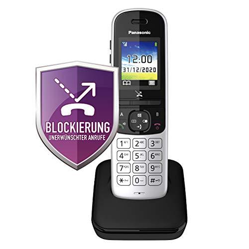 Panasonic KX-TGH710GS Schnurlostelefon ohne Anrufbeantworter (DECT Handy, strahlungsarm, Farbdisplay, Anrufsperre, Freisprechen) schwarz