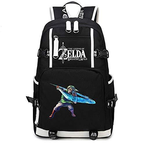 Gumstyle The Legend of Zelda Game Cosplay Casual Rucksack Schultertasche Schultasche für Jungen Mädchen Studenten, Schwarz 8 (Schwarz) - 1A610-8