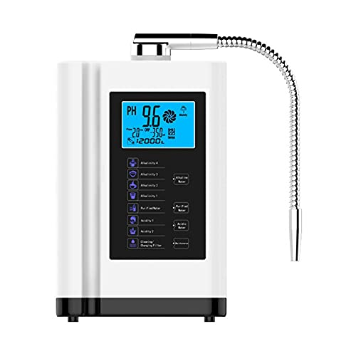 XSGDMN Máquina de Agua alcalina, Sistema de Filtro de Agua casera, purificador de ionizador de Agua de 3,5-10.5, hasta -500mv ORP, 6000L por Filtro, 7 configuraciones de Agua, Limpieza automática
