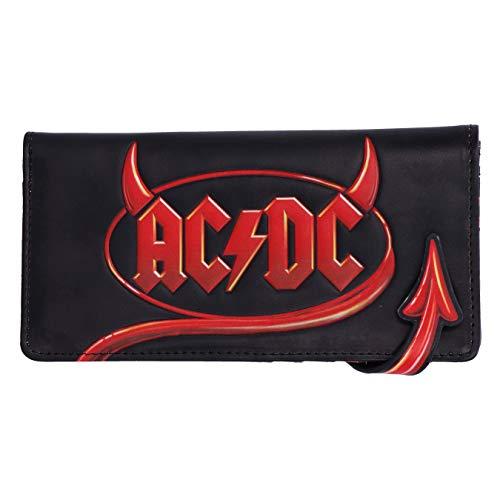 Nemesis Now Geldbörse, offizielles Lizenzprodukt, AC/DC-Logo, Lightning geprägt, Schwarz, 18,5 cm
